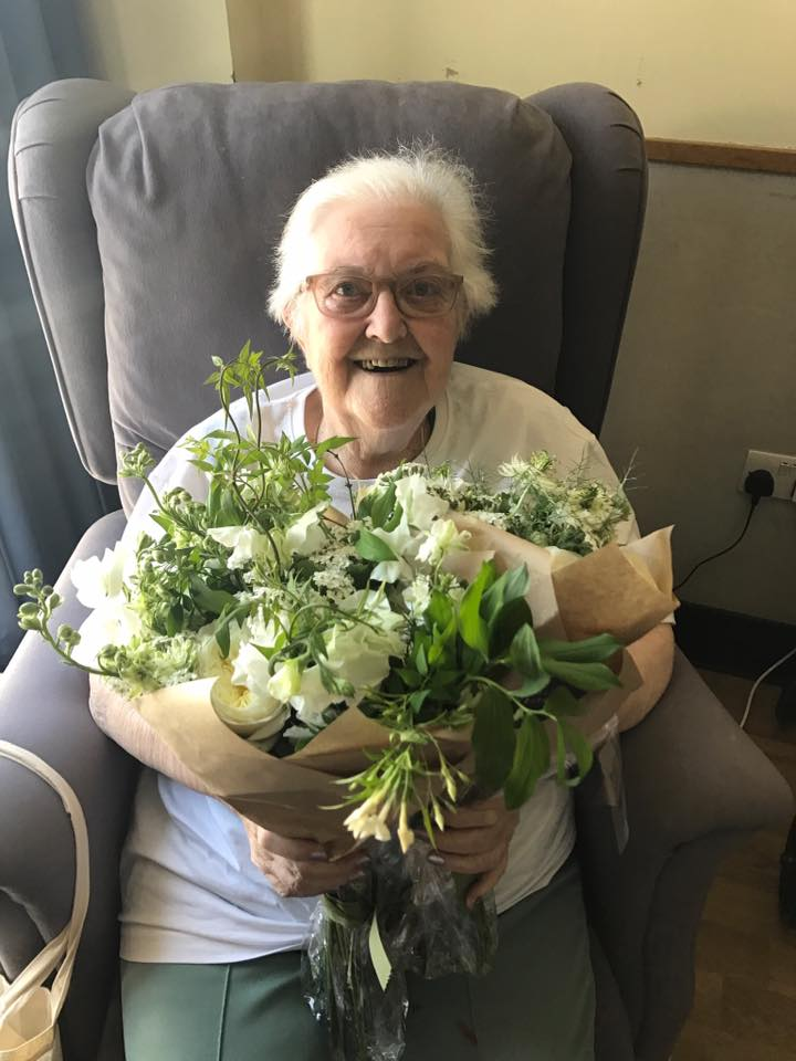 The residents of St Joseph's Hospice were thrilled to receive flowers from the royal wedding.