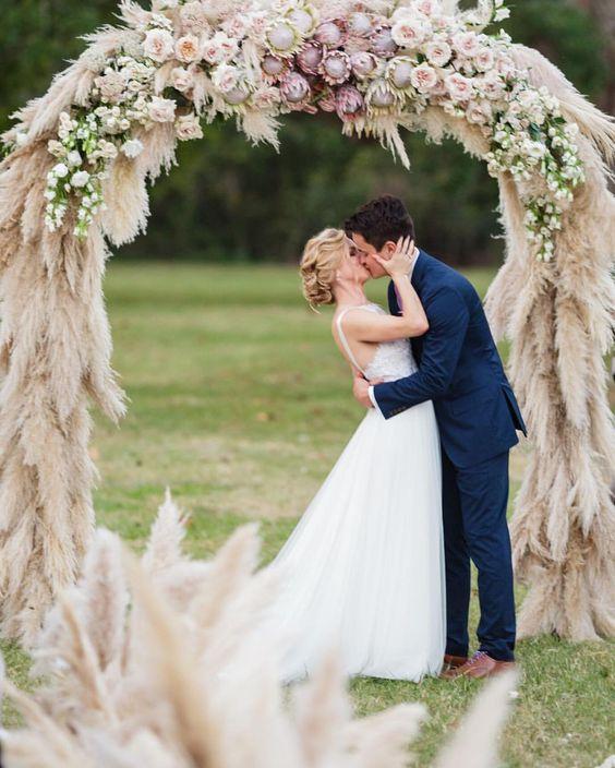 Pampas Grass wedding arbour