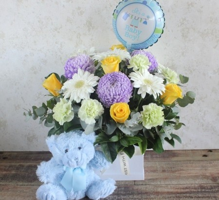 bundle of joy - flowers for new born babby, Image by Florist with Flowers