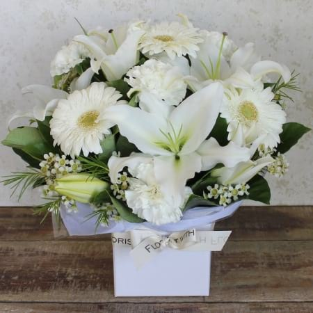 Crisp White Box Arrangement