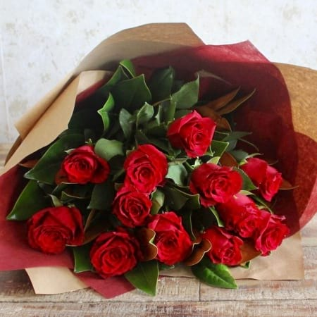 Bouquet of Long Stem Red Roses