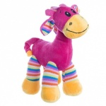 Giraffe with Stripes Pink 30cm
